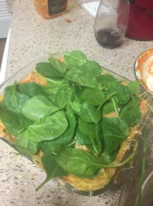 spinach layer